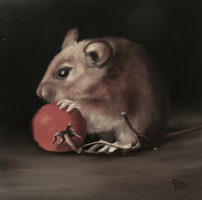 mouse oilpainting