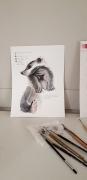 daily-sketch-badger-aquarl