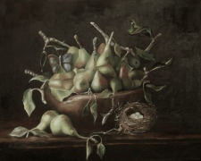 pears oilpainting